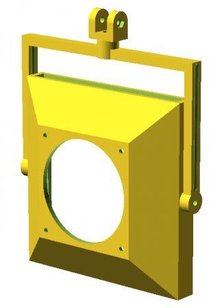 L'extracteur sous OpenScad verso